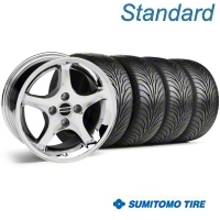 Chrome 1995 Style Cobra R Wheel & Sumitomo Tire Kit - 17x8 (87-93; Excludes 93 Cobra) - AmericanMuscle Wheels KIT||28312||63010