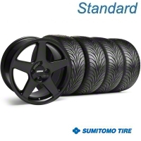 Black 2003 Style Cobra Wheel & Sumitomo Tire Kit - 17x9 (87-93; Excludes 93 Cobra) - AmericanMuscle Wheels KIT||28125||63010