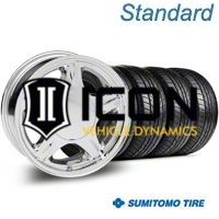 Chrome Pony Wheel & Sumitomo Tire Kit - 16x7 (87-93; Excludes 93 Cobra) - AmericanMuscle Wheels KIT||28229||63038