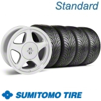 Argent Silver Pony R Wheel & Sumitomo Tire Kit - 17x9 (87-93; Excludes 93 Cobra)
