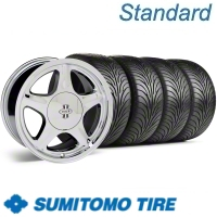 Chrome Pony R Wheel & Sumitomo Tire Kit - 17x8 (87-93; Excludes 93 Cobra)