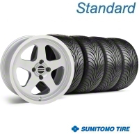 Silver SC Style Wheel & Sumitomo Tire Kit - 17x9 (87-93; Excludes 93 Cobra) - AmericanMuscle Wheels KIT||10092||63010