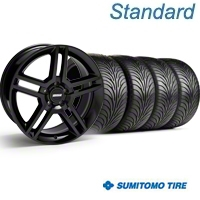 Black 2010 GT500 Wheel & Sumitomo Tire Kit - 18x9 (94-98 All) - AmericanMuscle Wheels KIT||28219||63005
