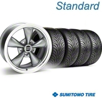 Anthracite Bullitt Wheel & Sumitomo Tire Kit - 18x9 (94-98 All) - AmericanMuscle Wheels KIT||28263||63005