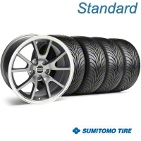 Anthracite FR500 Wheel & Sumitomo Tire Kit - 18x9 (94-98 All) - AmericanMuscle Wheels KIT||28274||63005