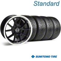 Black FR500 Wheel & Sumitomo Tire Kit - 17x9 (94-98 All) - AmericanMuscle Wheels KIT||28092||63015