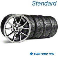 Black Chrome FR500 Wheel & Sumitomo Tire Kit - 18x9 (94-98 All) - AmericanMuscle Wheels KIT||10103||63005