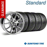 FR500 Style Chrome Wheel & Sumitomo Tire Kit - 18x9 (94-98 All) - American Muscle Wheels 28273||63005||KIT