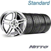 Chrome 2010 GT500 Wheel & NITTO Tire Kit - 18x9 (94-98 All) - AmericanMuscle Wheels KIT||28220||76002