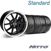 Black FR500 Wheel & NITTO Tire Kit - 18x9 (94-98 All) - AmericanMuscle Wheels KIT||28272||76002