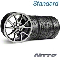 Black Chrome FR500 Wheel & NITTO Tire Kit - 18x9 (94-98 All) - AmericanMuscle Wheels KIT||10103||76002