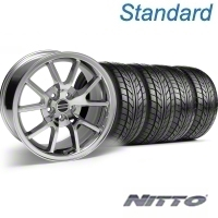 Chrome FR500 Wheel & NITTO Tire Kit - 18x9 (94-98 All) - AmericanMuscle Wheels KIT||28273||76002