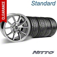 FR500 Style Chrome Wheel & NITTO Tire Kit - 18x9 (94-98 All) - American Muscle Wheels 28273||76002||KIT