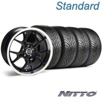 Black GT4 Wheel & NITTO Tire Kit - 18x9 (94-98 All) - AmericanMuscle Wheels KIT||28132||76002