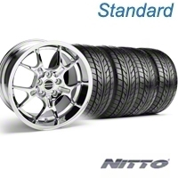 Chrome GT4 Wheel & NITTO Tire Kit - 18x9 (94-98 All) - AmericanMuscle Wheels KIT||28133||76002