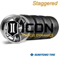 Staggered Chrome FR500 Wheel & Sumitomo Tire Kit - 18x9/10 (94-98 All) - AmericanMuscle Wheels KIT||28103||28273||63005||63006