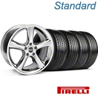 Chrome Style GT Premium Wheel & Pirelli Tire Kit - 19x8.5 (05-14) - AmericanMuscle Wheels KIT 28231G05||63101