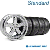 Chrome Shelby Razor Wheel & Sumitomo Tire Kit - 18x9 (05-14) - AmericanMuscle Wheels KIT 27226G05||63008