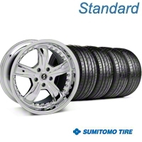 Chrome Shelby Razor Wheel & Sumitomo Tire Kit - 20x9 (05-14) - Shelby KIT 27229||63024