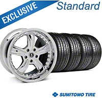 Shelby Razor Chrome Wheel & Sumitomo Tire Kit - 20x9 (05-14 All) - Shelby 63024||KIT 27229