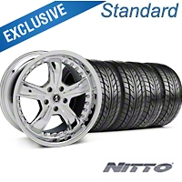 Shelby Razor Chrome Wheel & NITTO Tire Kit - 20x9 (05-14) - Shelby 76005||KIT 27229