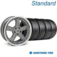 Gunmetal Shelby Razor Wheel & Sumitomo Tire Kit - 20x9 (05-14) - Shelby KIT 27224||63024