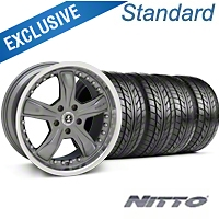 Shelby Razor Gunmetal Wheel & NITTO Tire Kit - 20x9 (05-14) - Shelby 76005||KIT 27224