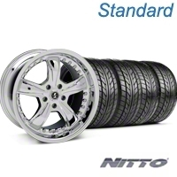 Chrome Shelby Razor Wheel & NITTO Tire Kit - 18x9 (94-98 All) - Shelby KIT 27226G94||76002