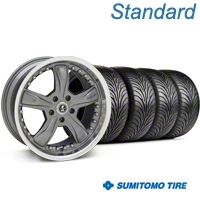 Gunmetal Shelby Razor Wheel & Sumitomo Tire Kit - 18x9 (99-04 All) - Shelby KIT 27221G94||63016