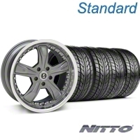 Gunmetal Shelby Razor Wheel & NITTO Tire Kit - 18x9 (99-04 All) - Shelby KIT 27221G94||76013