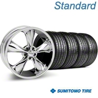 Chrome Foose Legend Wheel & Sumitomo Tire Kit - 20x8.5 (05-14 GT, V6) - Foose KIT 32800||63024