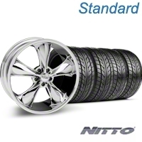 Chrome Foose Legend Wheel & NITTO Tire Kit - 20x8.5 (05-14 GT, V6) - Foose KIT 32800||76005