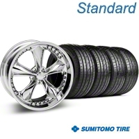 Chrome Foose Nitrous Wheel & Sumitomo Tire Kit - 20x8.5 (05-14 GT, V6) - Foose KIT 32805||63024