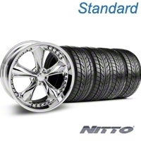 Chrome Foose Nitrous Wheel & NITTO Tire Kit - 20x8.5 (05-14 GT, V6) - Foose KIT 32805||76005