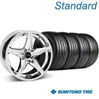 Chrome Foose Speed Wheel & Sumitomo Tire Kit - 18x8 (05-14 GT, V6) - Foose KIT 32809||63039