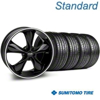 Black Foose Legend Wheel & Sumitomo Tire Kit - 20x8.5 (05-14 GT, V6) - Foose KIT 32802||63024