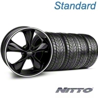 Black Foose Legend Wheel & NITTO Tire Kit - 20x8.5 (05-14 GT, V6) - Foose KIT 32802||76005