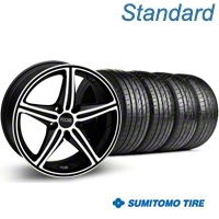 Black Machined Foose Speed Wheel & Sumitomo Tire Kit - 18x8 (05-14 GT, V6) - Foose KIT 32807||63039