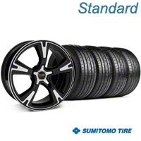 Black Machined Foose RS Wheel & Sumitomo Tire Kit - 20x8.5 (05-13 All)
