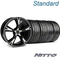Black Machined Foose RS Wheel & NITTO Tire Kit - 20x8.5 (05-14 All)