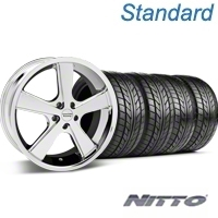 Chrome American Racing Nova Wheel & Nitto Tire Kit - 18x9 (05-14 GT, V6) - American Racing KIT 27208||76009