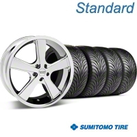Chrome American Racing Nova Wheel & Sumitomo Tire Kit - 18x9 (05-14 GT, V6) - American Racing KIT 27208||63008