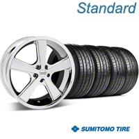 Chrome American Racing Nova Wheel & Sumitomo Tire Kit - 20x8.5 (05-14 GT, V6) - American Racing KIT 27211||63024