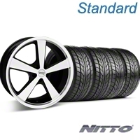 Black Machined American Racing Nova Wheel & Nitto Tire Kit - 18x9 (05-14 GT, V6) - American Racing KIT 27209||76009