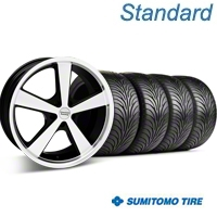 Black Machined American Racing Nova Wheel & Sumitomo Tire Kit - 18x9 (05-14 GT, V6) - American Racing KIT 27209||63008