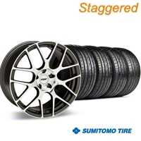 TSW Staggered Nurburgring Gunmetal Wheel & Sumitomo Tire Kit - 19x8.5/9.5 (05-14 All) - TSW 63036||63037||KIT 27360||27355
