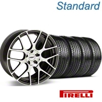 TSW Nurburgring Gunmetal Wheel & Pirelli Tire Kit - 19x8.5 (05-14 All) - TSW 63101||KIT 27360