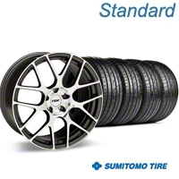 Staggered Gunmetal TSW Nurburgring Wheel & Sumitomo Tire Kit - 20x8.5/10 (05-14 All) - TSW KIT 27357||27359||63024||63025