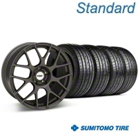 Matte Gunmetal TSW Nurburgring Wheel & Sumitomo Tire Kit - 18x8 (05-14 All) - TSW KIT 27350G05||63039