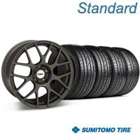 TSW Nurburgring Matte Gunmetal Wheel & Sumitomo Tire Kit - 19x8.5 (05-14 All) - TSW 63036||KIT 27361